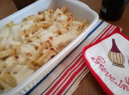 Maccheroni ai 4 formaggi gratinati