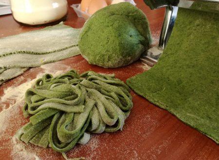 Impasto base pasta all'uovo verde agli spinaci