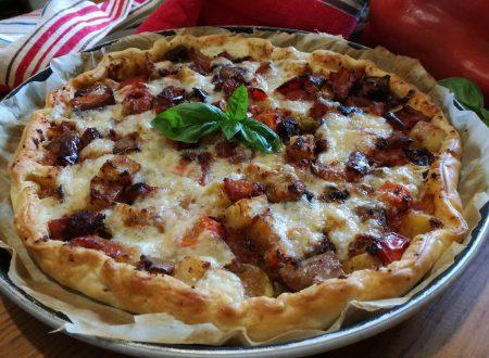Torta salata di verdure -Salted vegetable pie