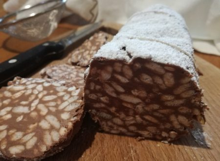 Salame di riso soffiato con cioccolato e Nutella