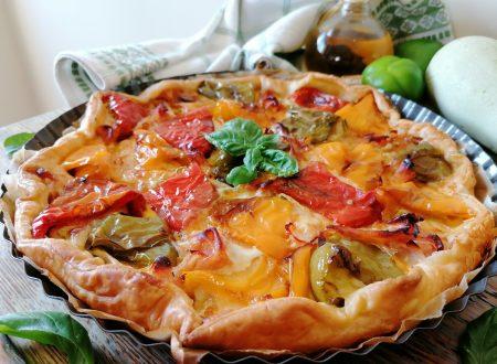 Torta salata peperoni e scamorza
