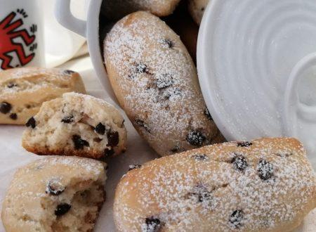 Biscotti al latte con gocce di cioccolato
