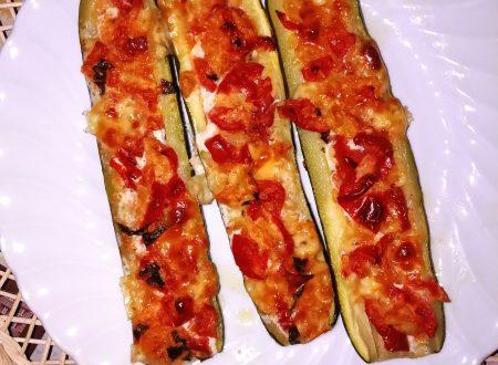 Barchette di zucchine ripiene vegetariane