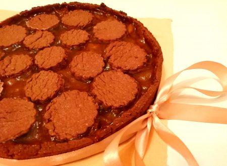 Crostata al cacao con marmellata di albicocche senza burro
