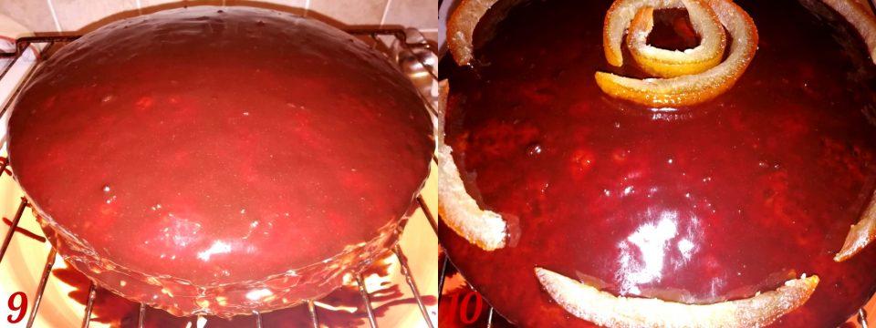 Torta arancia e cioccolato fondente
