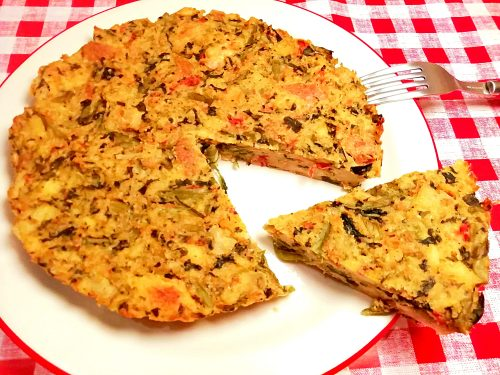 Tortino di pane e verdure gustoso