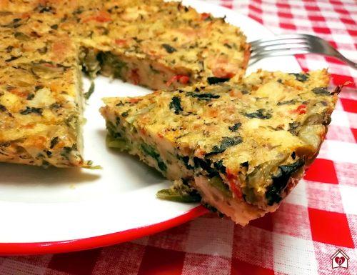 Tortino di pane e verdure