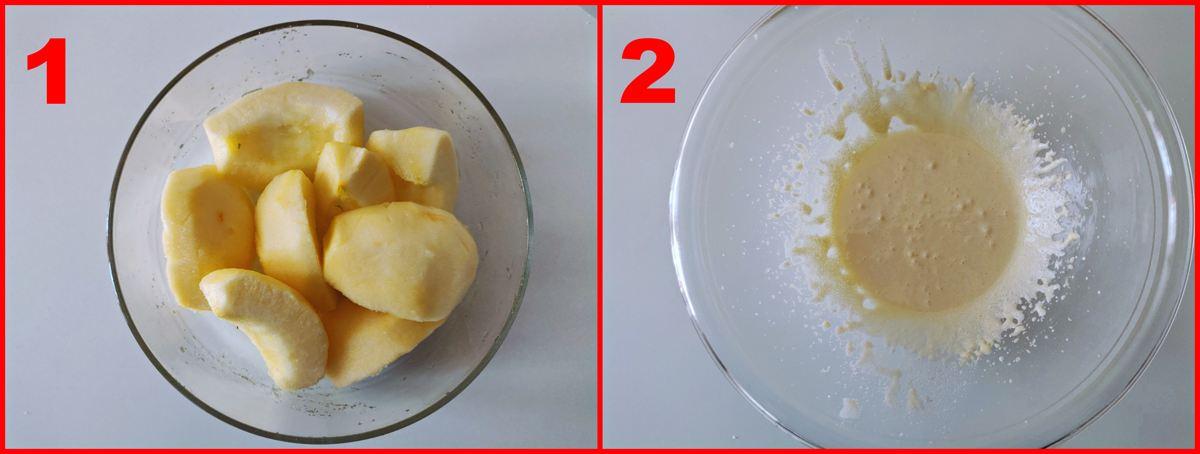 primo procedimento per la torta di mele della nonna