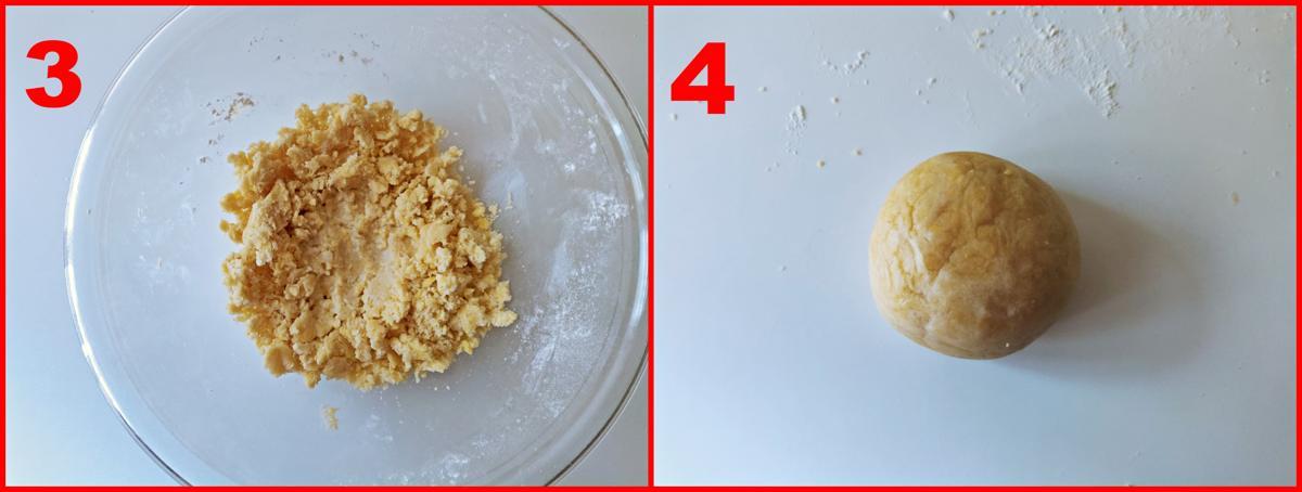 secondo procedimento della pasta frolla salata