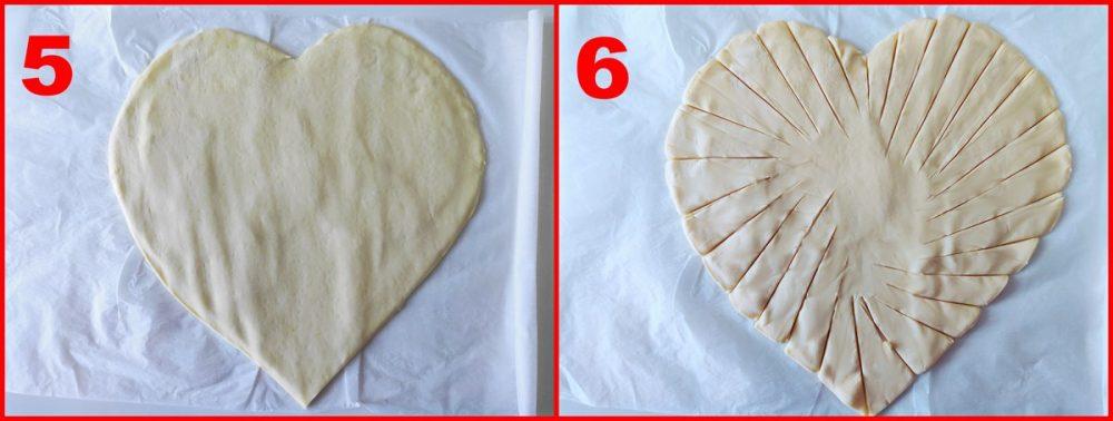 terzo procedimento del cuore di sfoglia