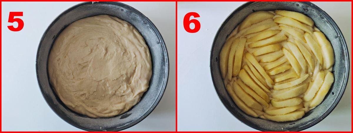 terzo procedimento della torta di mele della nonna