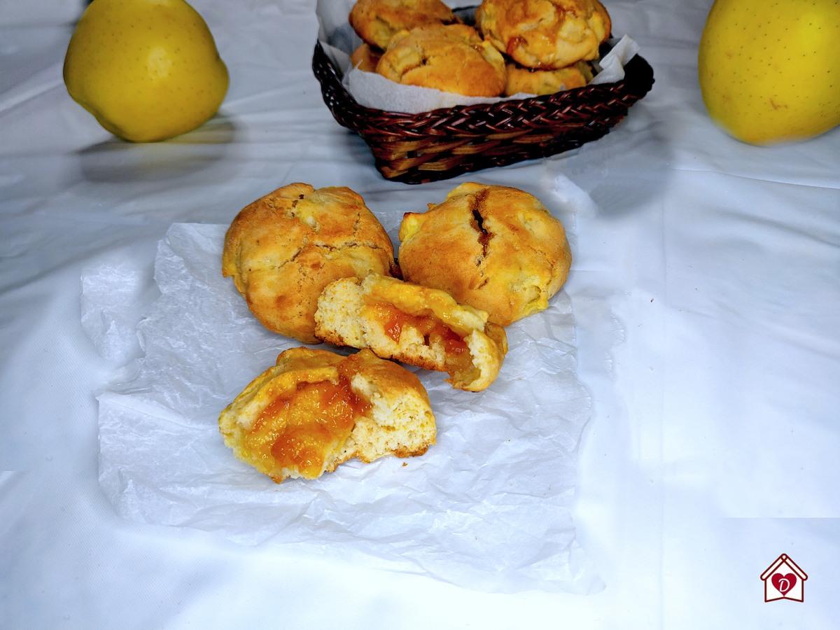 biscottini morbidi con mele e marmellata