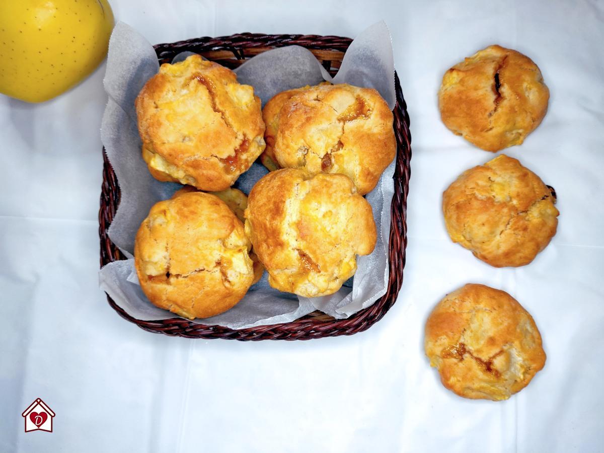 ricetta dei biscotti morbidi alle mele e marmellata