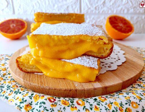 Quadrotti cremosi all'arancia
