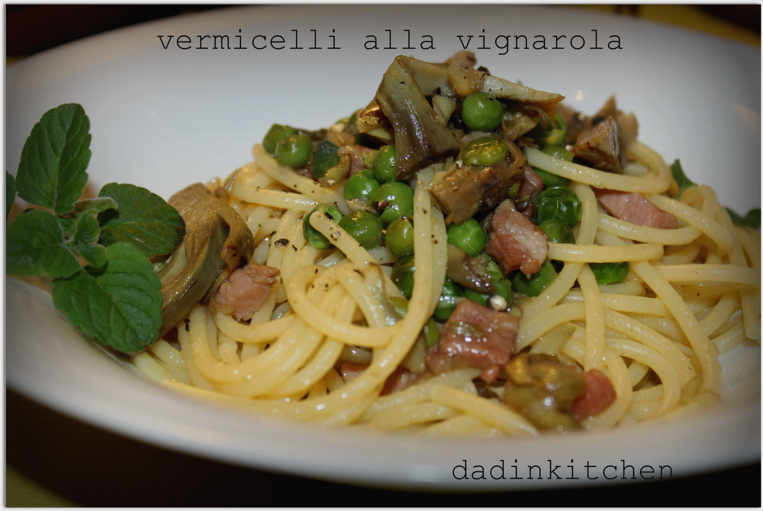 Ricetta Pasta Alla Vignarola.Vermicelli Alla Vignarola