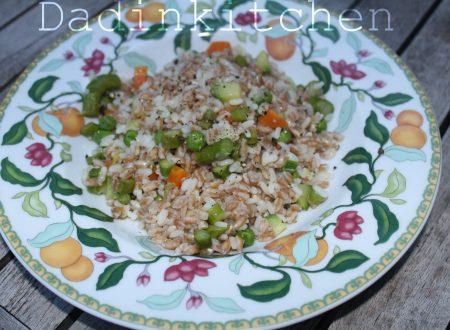 Mix di riso e farro con verdure