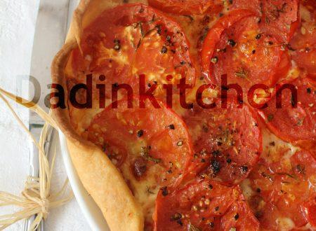 Crostata di pomodori al profumo di timo