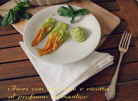 Fiori ripieni di ricotta e zucchine