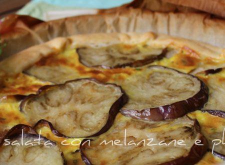 Torta salata con melanzane e philadelphia