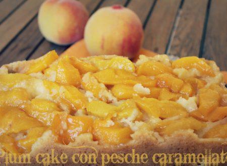 Plumcake con pesche gialle caramellate