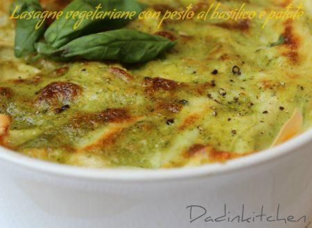 Lasagne vegetariane con pesto al basilico e patate