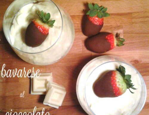 Bavarese al cioccolato bianco