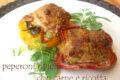 Peperoni ripieni con carne e ricotta