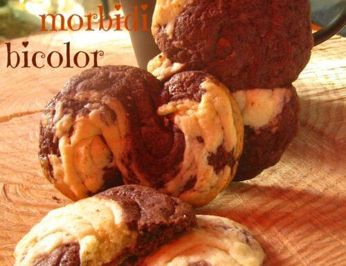 Biscotti morbidi bicolor
