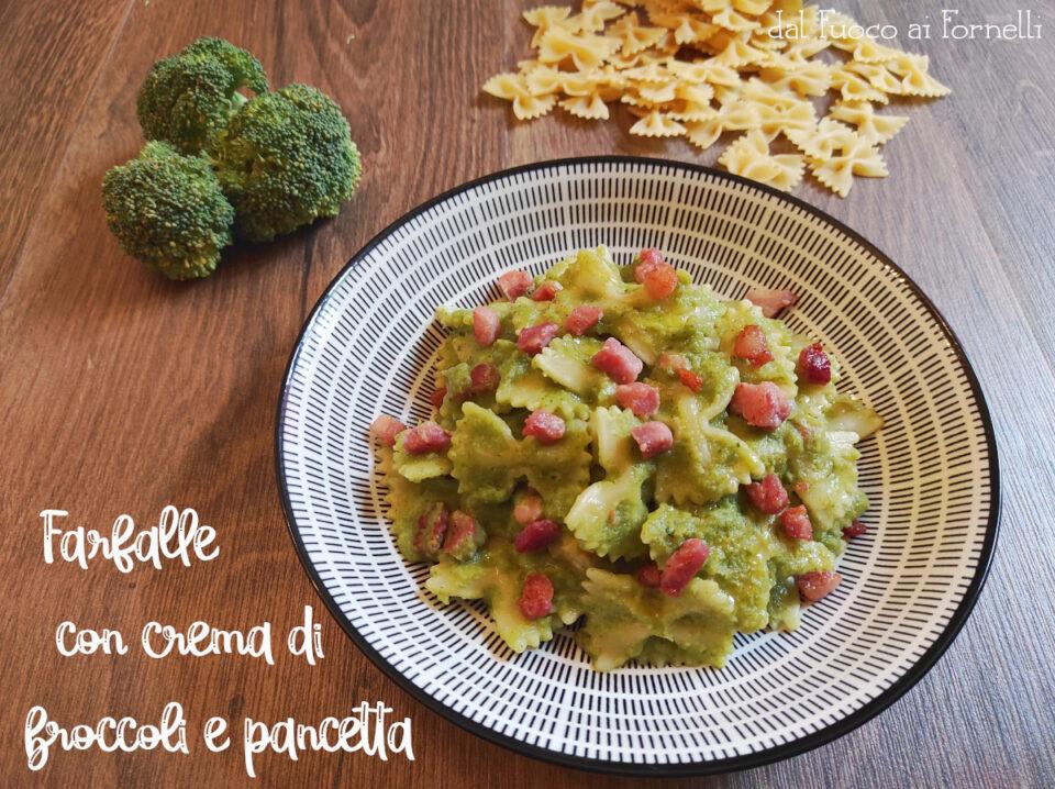 farfalle con crema di broccoli e pancetta