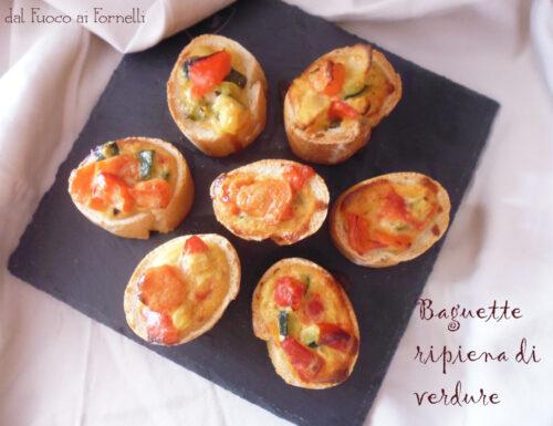 Baguette ripiena di verdure