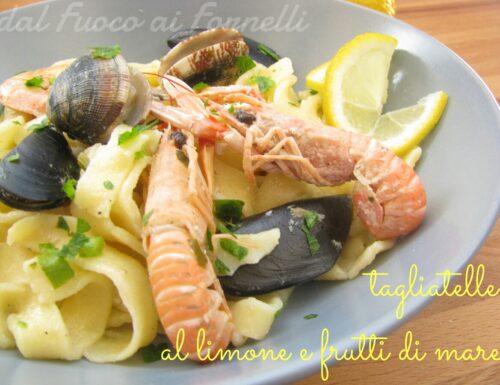 Tagliatelle al limone e frutti di mare