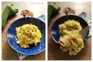 tagliatelle con crema di zucchine
