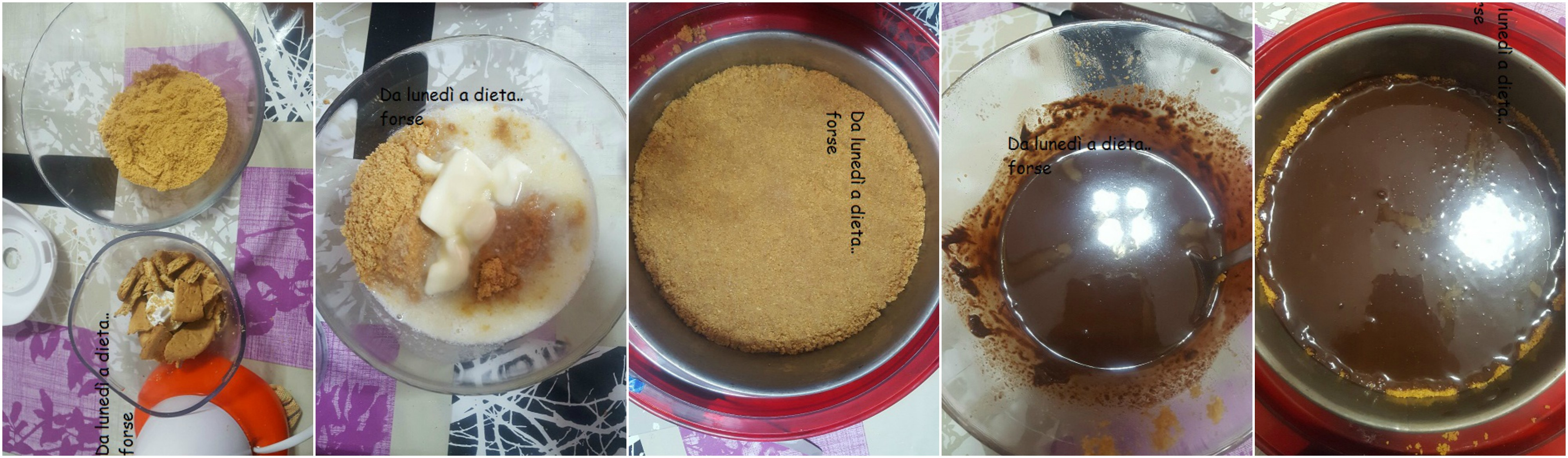 Base cheesecake collage