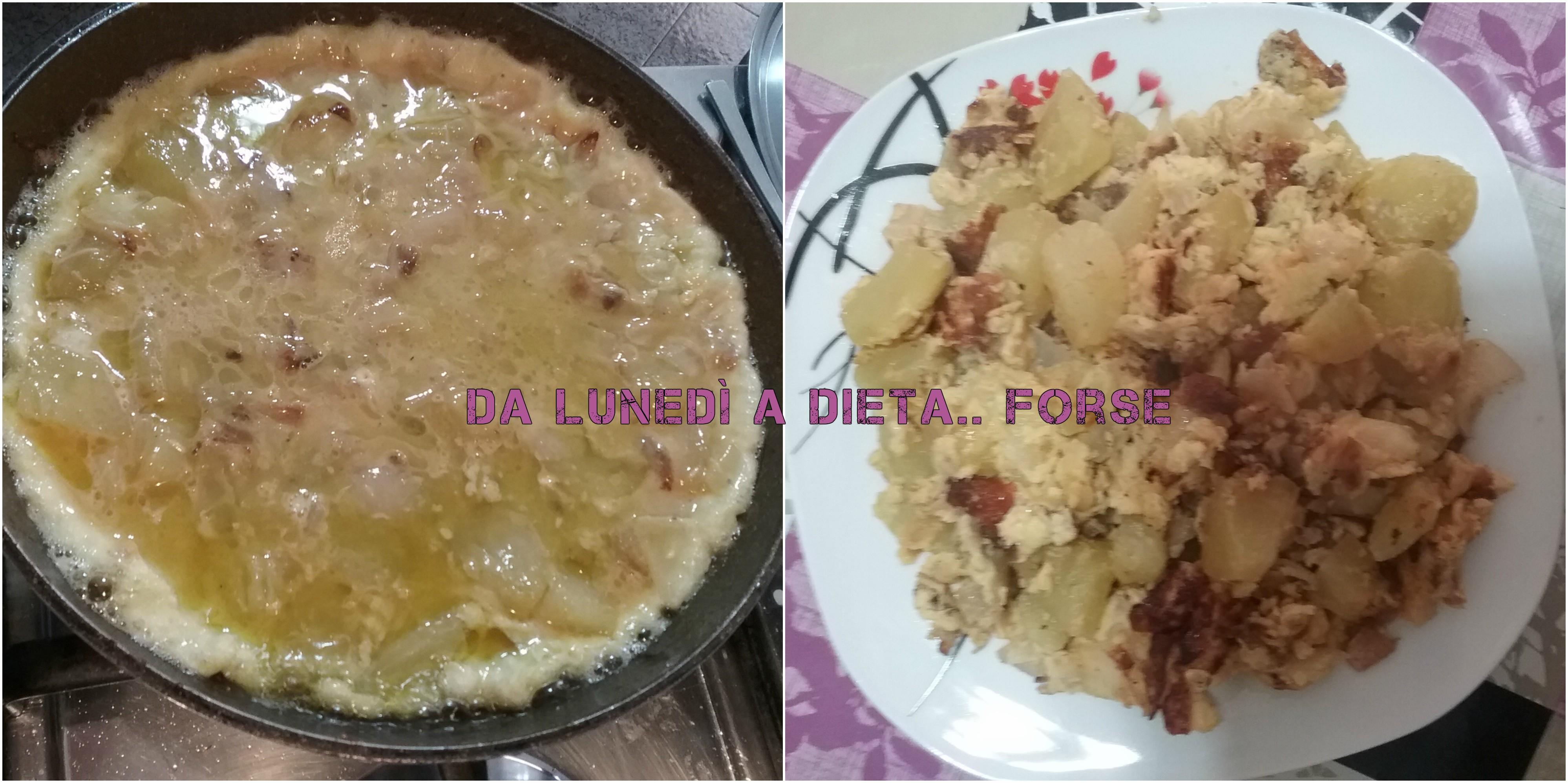 Frittata strapazzata di patate