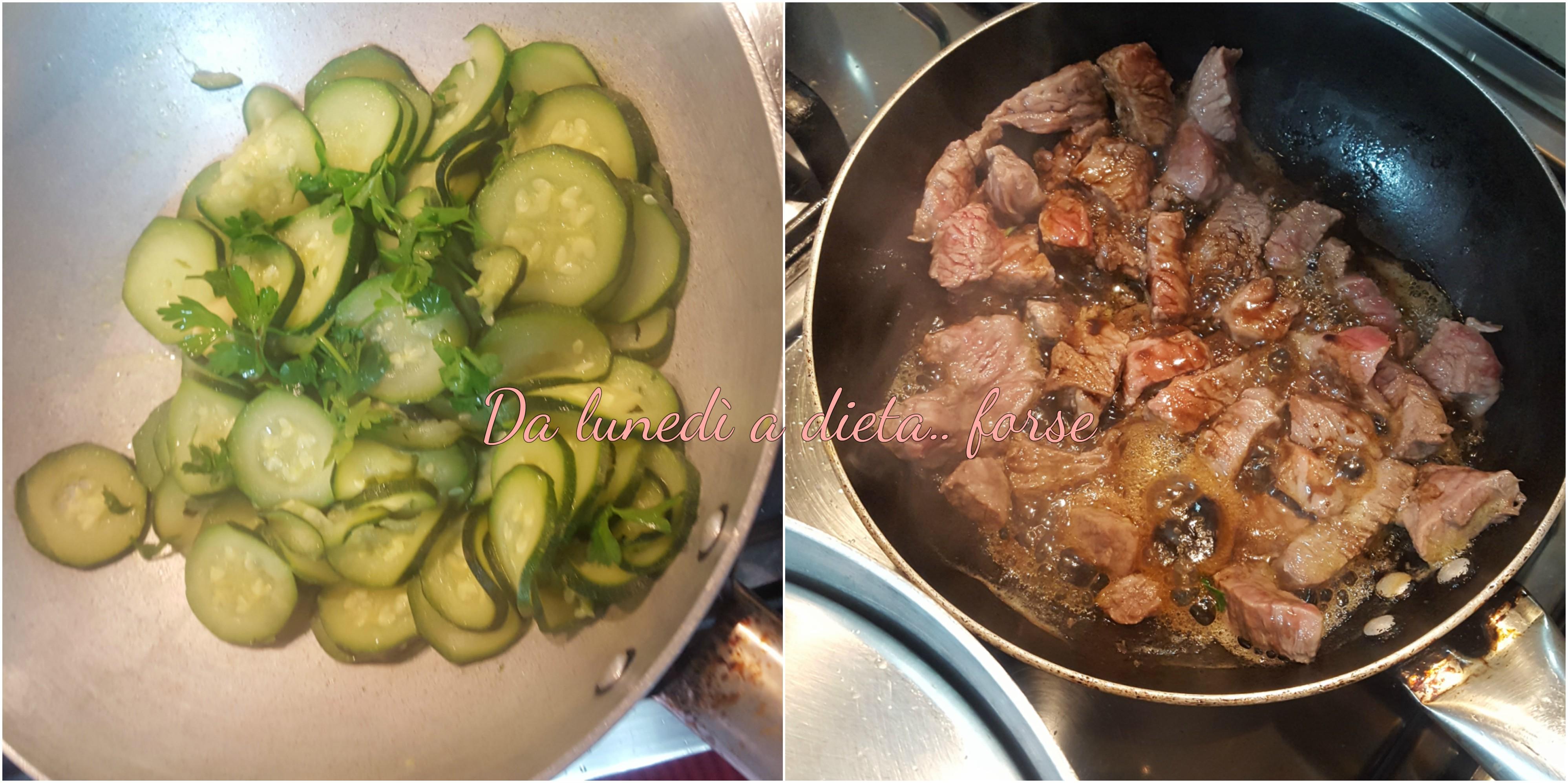 Carne con zucchine
