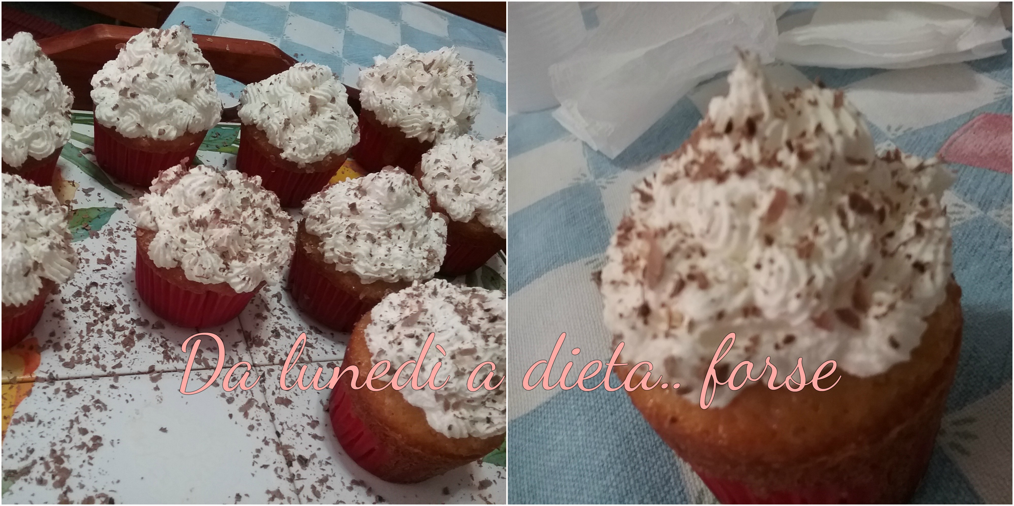 Cupcake alla vaniglia con cuore al cioccolato