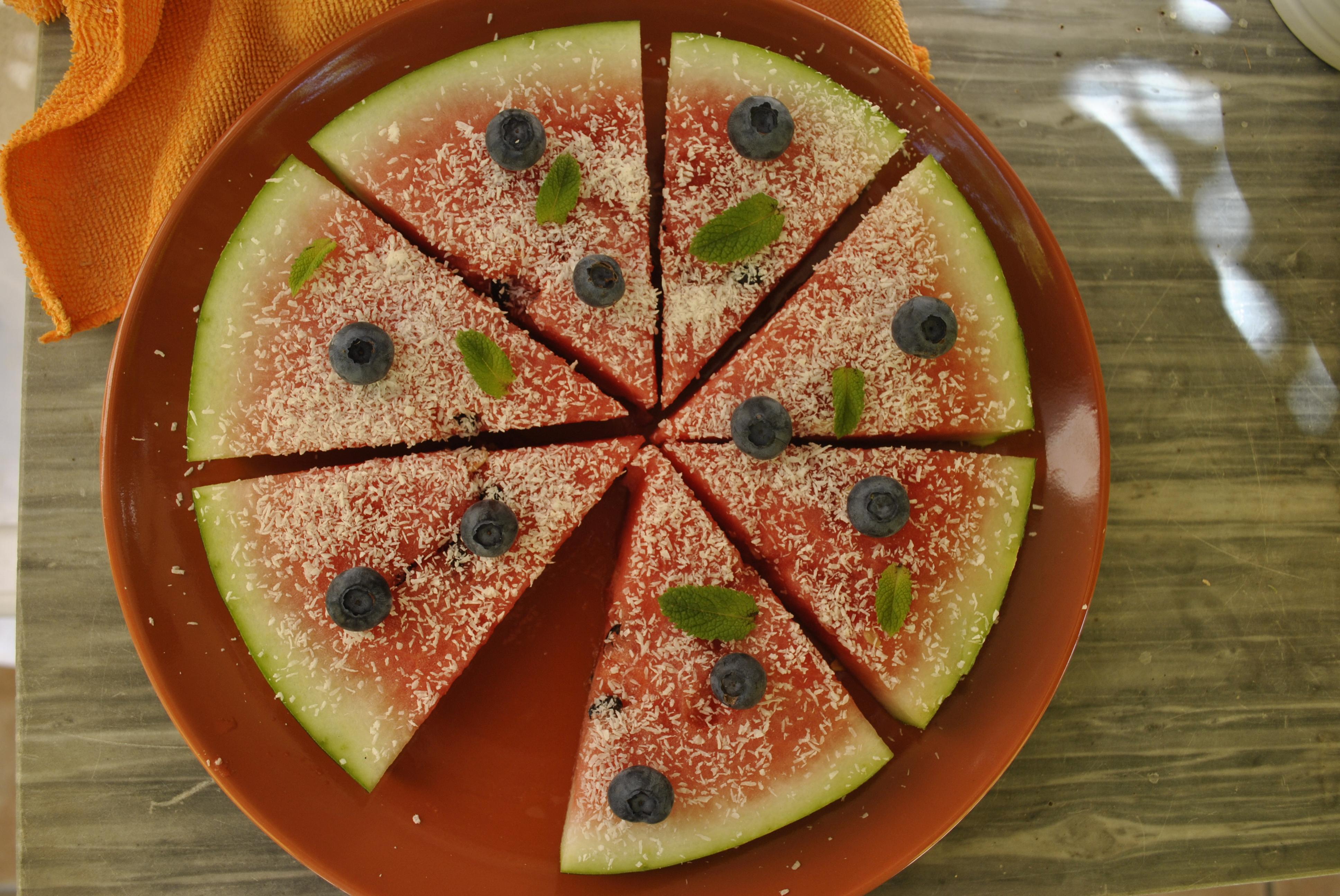 Pizza di Anguria! Un bel modo di presentare la frutta!