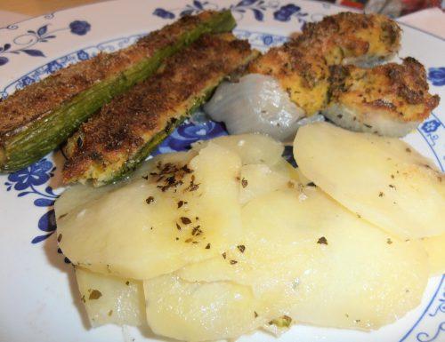 Zucchine e cipolle ripiene(ricetta light e vegetariana)