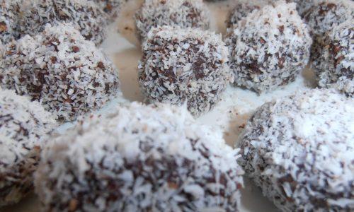Praline al cocco e cioccolato fondente