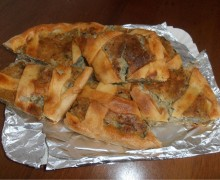 Torta rustica di carciofi mozzarella e salumi
