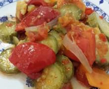 peperonata di peperoni,zucchine e carote