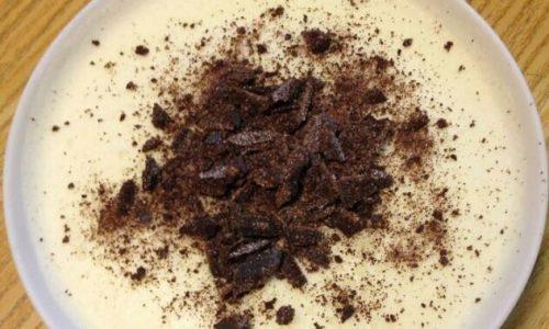 Bavarese di ricotta con scaglie di cioccolato