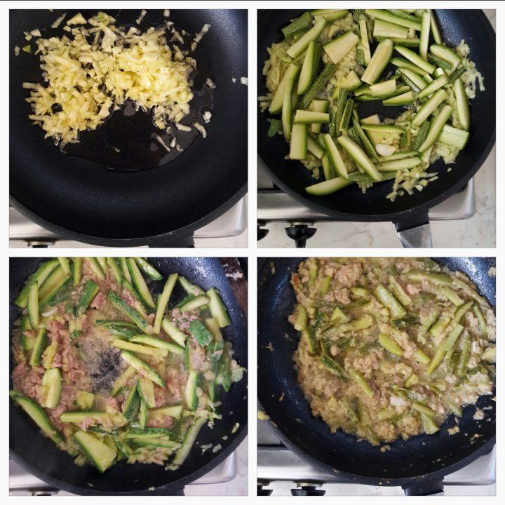 Spaghetti tonno e zucchine al profumo di limone