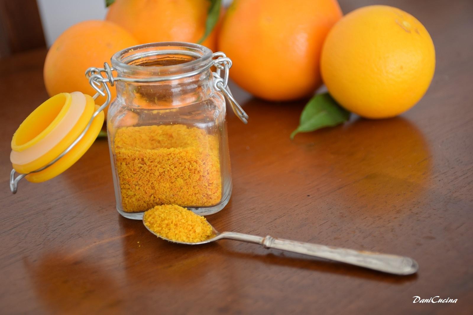 Scorza di arancia in polvere