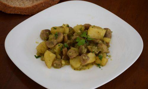 Funghi champignon trifolati in padella (con patate)