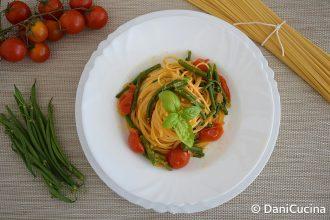 Pasta con pomodorini e fagiolini