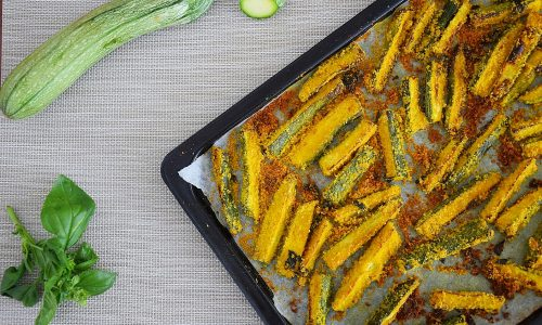 Stick di zucchine speziati al forno