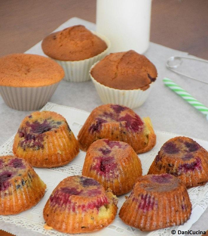 muffin rovesciati alle more