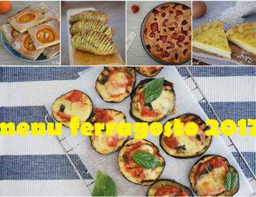 Menu di ferragosto 2017 – ricette estive