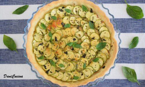 Crostata Salata di Zucchine (senza uova)